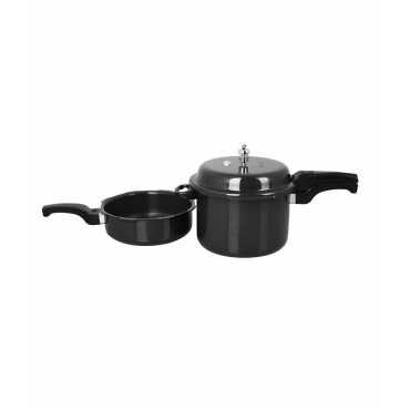 Sumeet Combo Of Hard Anodised Metalina 7.5 L Pressure Cooker And 3.5 L Pan