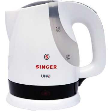 Singer Uno 1200W Electric Kettle - Black | White