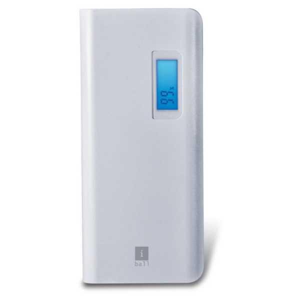 iBall (PB-10107) 10000mAh Power Bank - White | Black | Grey