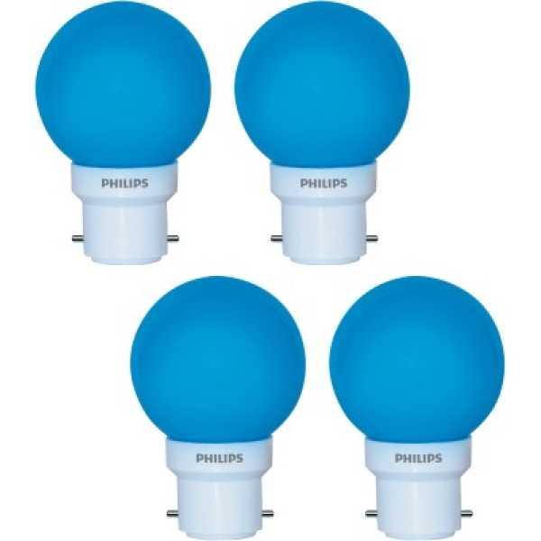 Philips  Deco Mini 0.5W LED Bulbs (Blue, Pack of 4) - Blue