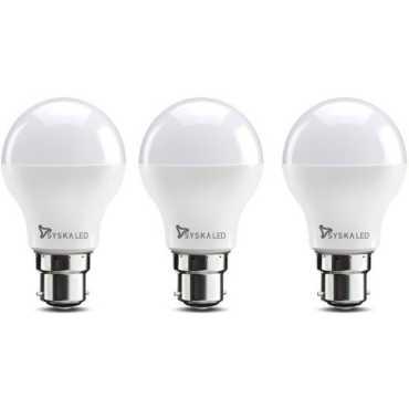 Syska 5W Standard B22 500L LED Bulb White Pack of 3