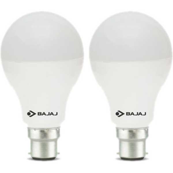 Bajaj 12 W LED CDL B22 HPF Bulb White (pack of 2) - White