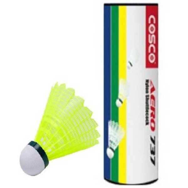Cosco Aero 737 Nylon Shuttle Cock (Pack Of 1) - Yellow
