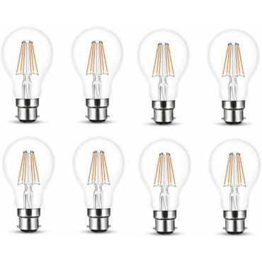 Wipro Garnet 6W Standard B22 630L LED Bulb (Yellow,Pack of 8) - Yellow