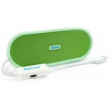 Portronics Sound Bowl USB Speaker - Green   Purple