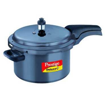 Prestige Deluxe Plus Hard Anodized 5 L Pressure Cooker - Black