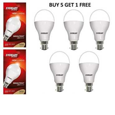 Eveready 14W LED Bulbs (White, Pack of 5) - White