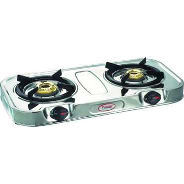 Prestige Royale Eco Gas Stove (2 Burner) - Steel | Silver