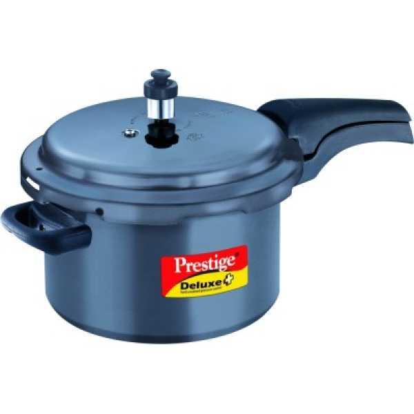 Prestige HA Deluxe Plus Aluminium 5 L Pressure Cooker (Induction Bottom, Outer Lid)