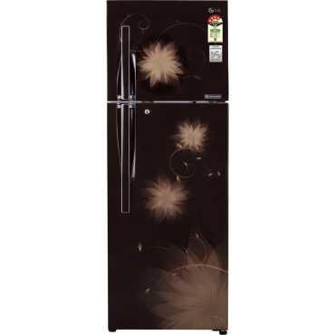 LG GL-D372JHSL 335 Litres Double Door Refrigerator - Brown