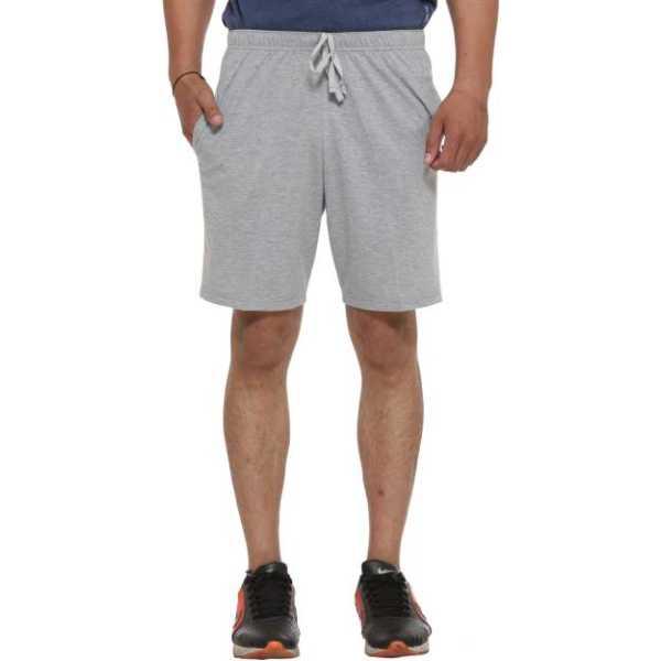 Vimal Solid Men's Silver Basic Shorts