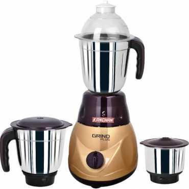Kanchan Grind Plus 600W Mixer Grinder (3 Jars) - Brown