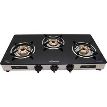 Sunflame Regal 3B Gas Cooktop (3 Burner) - Black | Steel