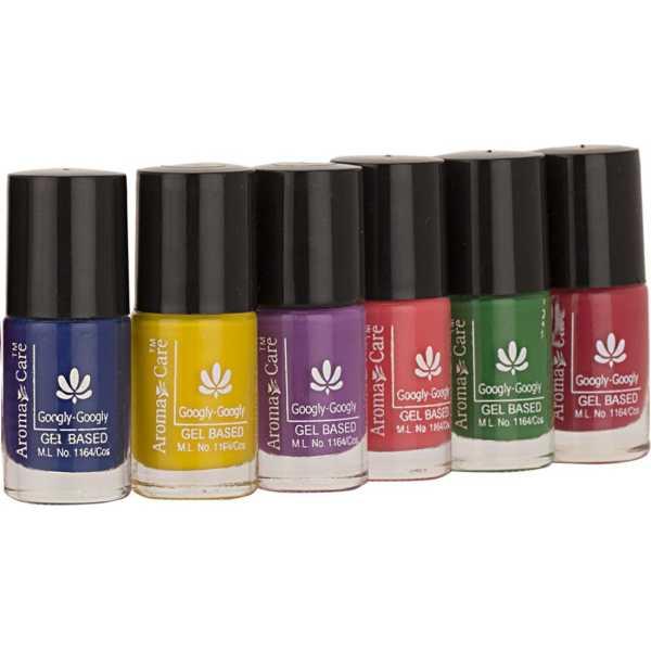 Aroma Care Mab Nail Polish 637-576-44-36-09-634 (Multicolor) (Set of 6)