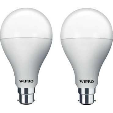 Wipro Garnet 14W 6500K White LED Bulb (Pack of 2) - White