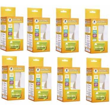 Wipro Garnet 5w Standard B22 400L LED Bulb (Yellow,Pack of 8) - Yellow