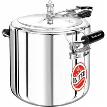 United Aluminium 22 L Pressure Cooker (Inner Lid) - Silver