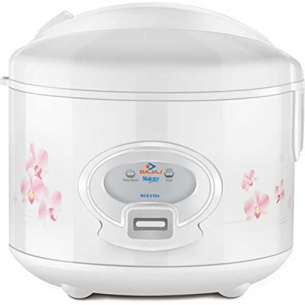 Bajaj Majesty RCX21 Dlx 550W Electric Cooker - White
