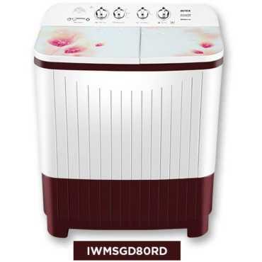 Intex 8kg Semi Automatic Top Load Washing Machine (IWMSGD80RD)