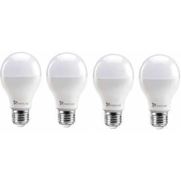 Syska 12W Round E27 1200L LED Bulb (White,Pack of 4) - White