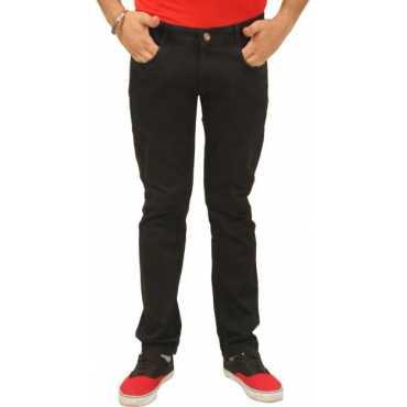 Trendy Trotters Regular Men's Black Jeans