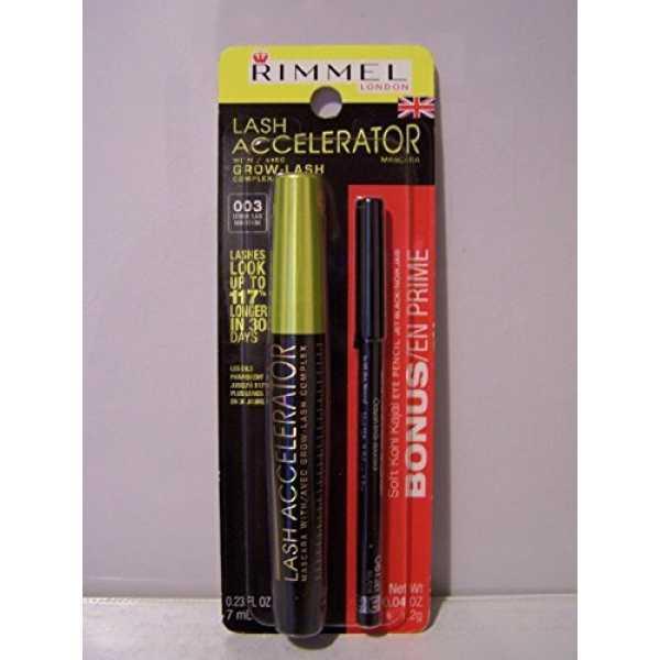 Rimmel Lash Accelerator Mascara (003 Extreme Black) (With Soft Kohl Kajal - Jet Black)
