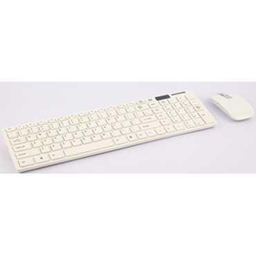 Technotech (TT-WCOMBO) Multimedia 2.4G Wireless Keyboard & Mouse Combo - White