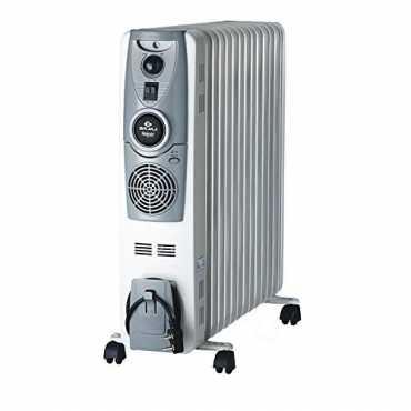 Bajaj Majesty RH 11F Plus Oil Filled Radiator Room Heater - Black