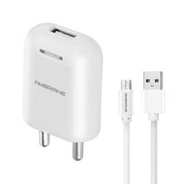 Ambrane (AWC-38) 2.1A USB Wall Charger - White