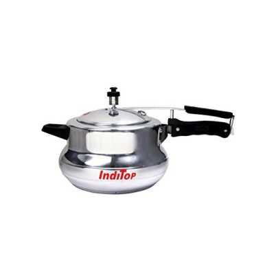 Inditop Aluminium 5.5 L Pressure Cooker (Inner Lid) - Silver