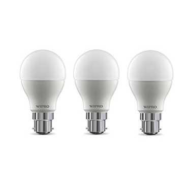 Wipro Garnet 9w 6500k White Led Bulb (Pack of 3) - White