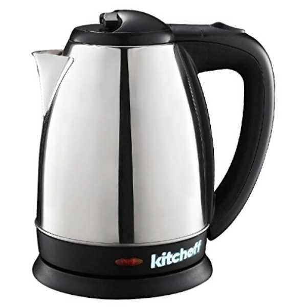 Kitchoff KL-3 1.8L Electric Kettle - Black   Silver