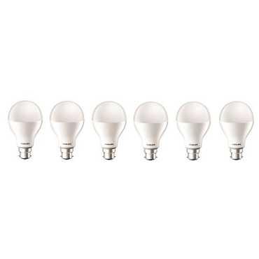 Philips 17W B22 6500k LED Bulb (White, Pack Of 6) - White