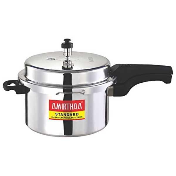 Amirthaa AM_114 STANDARD Aluminium 5 L Pressure Cooker (Outer Lid) - Silver