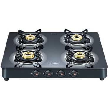Prestige Royale Plus Aluminum Gas Cooktop (4 Burner) - Black