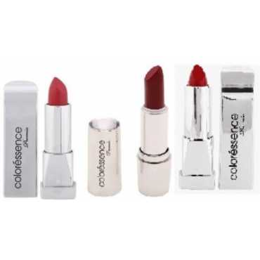 Coloressence Lipstick (Vibrant Red, Valentine, Sweet Maroon) (Pack of 3) - Red