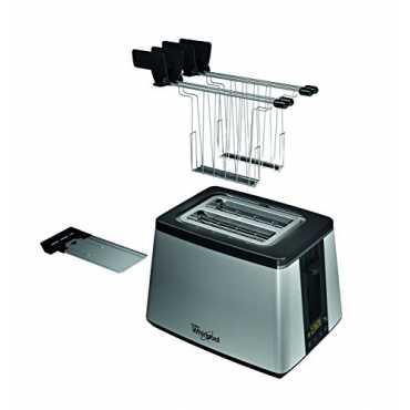 Whirlpool 77011900W 2-Slice Pop-up Toaster - Black   Silver