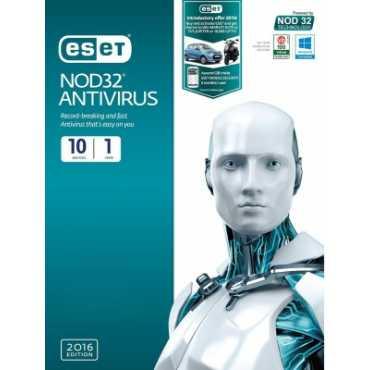 Eset NOD32 Antivirus 2016 10 PC 1 Year