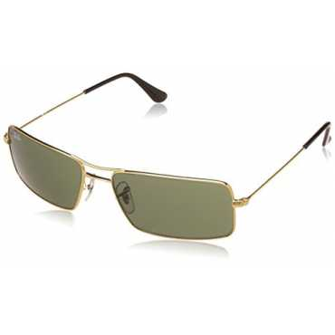 UV Protected Oversized Men's Sunglasses - (0RB3305I00158|62|Crystal Green Color)