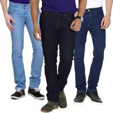 Men s Multicolor Slim Fit Jeans