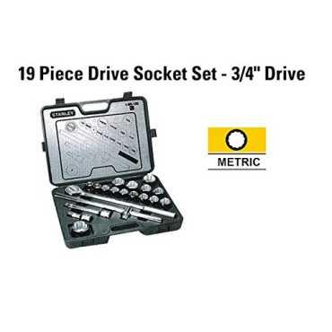Stanley 1-89-101 19 Pc Metric Socket Set