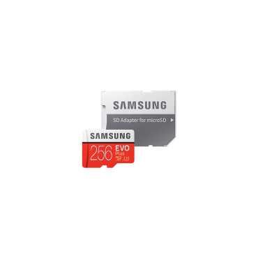 Samsung MB-MC256GA Evo Plus 256GB MicroSDXC Class 10 UHS 3 100MB S Memory Card With Adapter