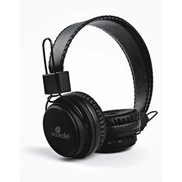 Accede BT-1036 Wireless Bluetooth Headset - Black   White   Grey