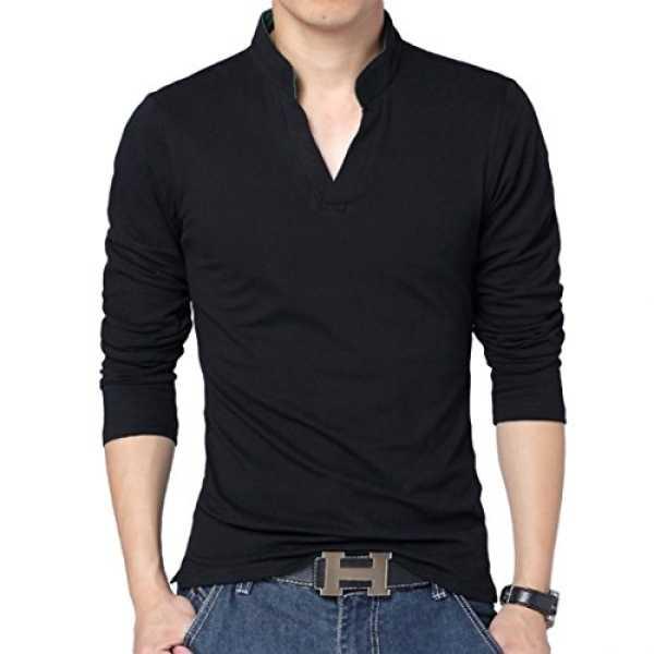 Men's Cotton T-Shirt (LR-35 _Black _Medium (40))
