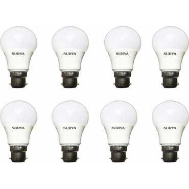 Surya 7W White 630 Lumens LED Bulbs (Pack Of 8) - White
