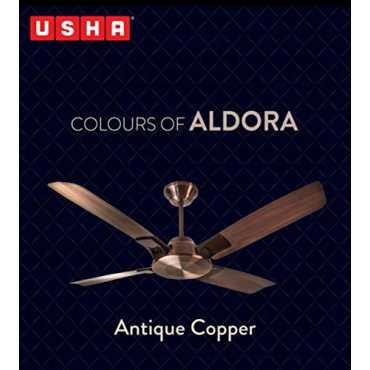 Usha Aldora 4 Blade (1320mm) Ceiling Fan - Antique Copper | Antique Brass