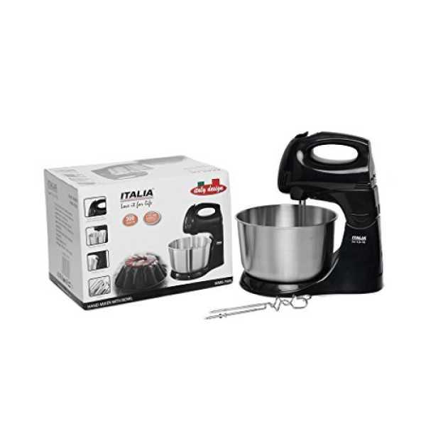 Italia IHMB-7909 300W 5L Hand Mixer Blender - Silver