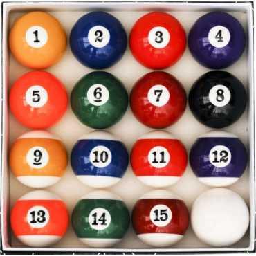 Iszy Billiards Art Number Style Billiard Ball Set