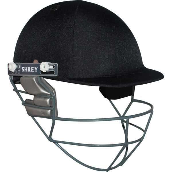Shrey Match with Stainless Steel Visor Cricket Helmet - (Large) - Blue | Steel