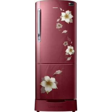 Samsung RR22N383ZR2/HL 215L Single Door Refrigerator (Star Flower) - Red